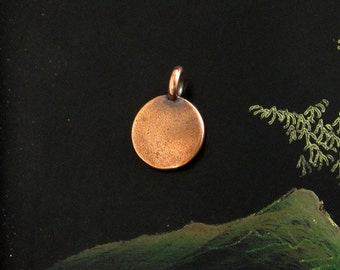 NEW TierraCast Copper Blank Stamping Disk Charm *YOU Collection*