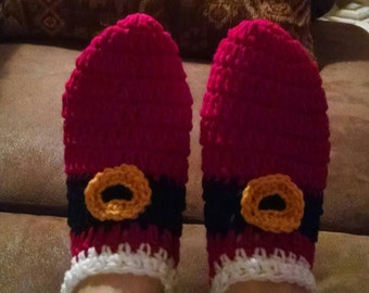 Crochet Santa slippers
