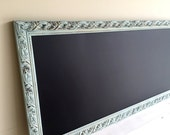 "23""x55"" Kitchen CHALKBOARD Narrow Tall MAGNETIC Chalk Board Long Restaurant Menu Extra Large Blue Vintage Large Playroom Bulletin Board"