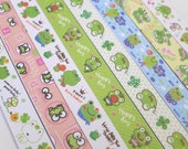 Cute Little Green Frogs - Origami Lucky Star Folding Paper - pack of 160 strips