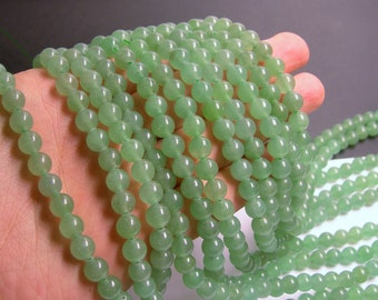 Green Aventurine - 8mm round beads -1 full strand - 49 beads - A quality - RFG149