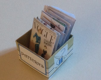 Dolls House Miniatures - 1/12th Sewing Patterns Box