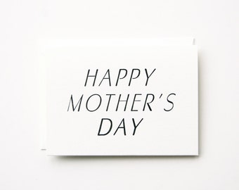 Happy Mother's Day -  Letterpress Printed Greeting Card