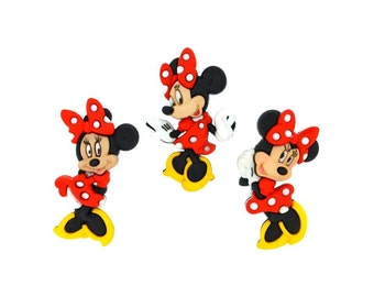 Minnie Mouse Buttons Disney Licensed Character Novelty Shank Button Set Sewing Crafts