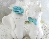 Wedding Cake Topper, Elephant and Giraffe, Mix and Match, Bride and Groom Keepsake, Fully Custom