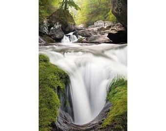 Waterfall Photography, North Carolina, METALLIC, Fine Art Print, Photo, Nature, Cullasaja Gorge, Highlands, Franklin, Cashiers, Zen, Pretty