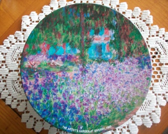 Monet's Garden at Giverny Cookie Candy Tin Container - Impressionist Artwork Reproduction