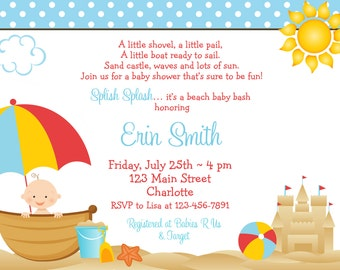 beach baby shower invitation beach baby beach baby shower invitation