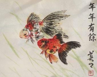 Original Chinese painting-Fish(Goldfish)