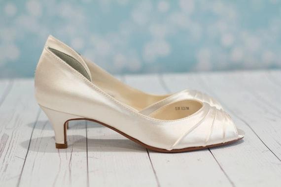 Like this item Wedding Shoes Heel 1 3 4 Inch Peep Toe Shoes Choose. One Inch Heel Wedding Shoes. Home Design Ideas