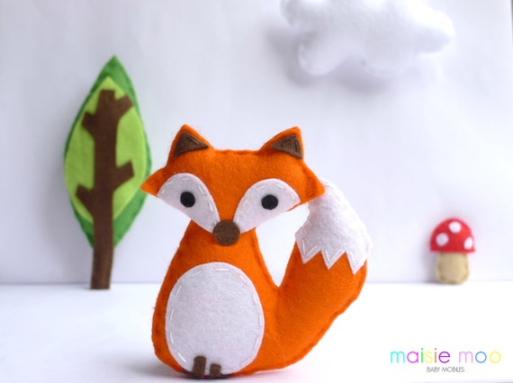 felt fox sewing pattern