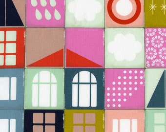 Sale Memory in pink from the Playful collection 1/2 yard fabric by Melody Miller cotton and steel