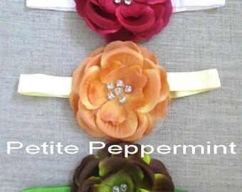 Baby Headband, Baby Flower Headband, Toddler Headband - Set of Three Baby Headband Flower - Baby Hair Accessory - Baby Headband Set