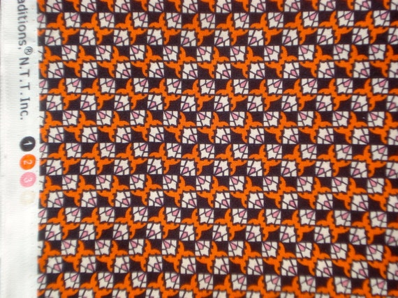 Richmond small Geometric black orange DS Quilts Denyse Schmidt fabric  FQ or more