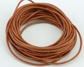 Natural Light Brown Leather Cord (GL/5001/1.5/409) - 5 yards