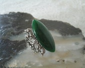 Green Agate Ring, wiccan jewelry pagan jewelry wicca jewelry goddess jewelry witch withcraft metaphysical handfasting magic celtic