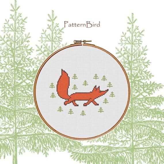 Sassy Fox. Instant Download PDF Cross Stitch Pattern