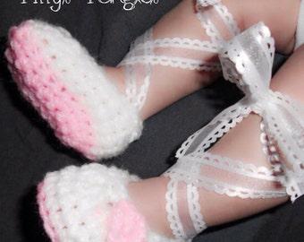 Custom Crochet Baby Ballet Slippers