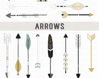 ARROWS // PNG Files - Photoshop Brushes // Photo Overlays // Photography - Logo // Tribal Clipart // Personal-Use // Instant Download