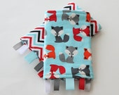 Reversible Baby Carrier Suck/Drool Pads - Foxes/Chevron Celebration (Fits Tula, Ergo, Beco, Mei Tai, and other SSCs)