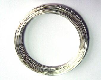 WIRE  28 gauge 10 ft. non tarnish round brilliant Silver Inspire Wire