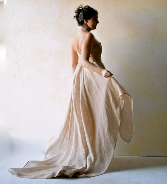 Wedding dress woodland wedding dress wedding gown by loretree for Woodland fairy wedding dress