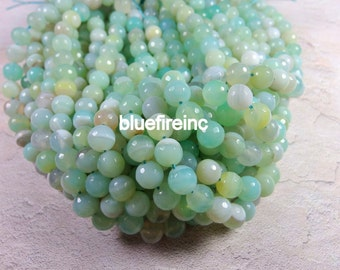 38 pcs 10mm round faceted multi color agate beads