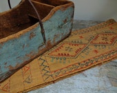 Vintage Antique Primitive Long Hand Woven Table Runner
