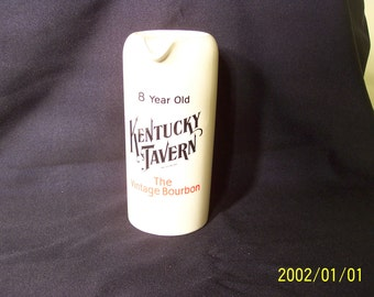 Kentucky Tavern advertising pitcher