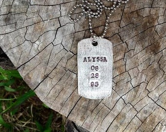 SALE-Textured Pewter Dog Tags