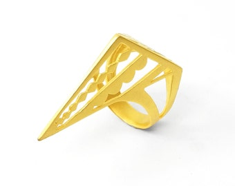Gold Joan of Arc Ring