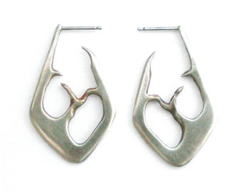 Silver Space Between Earrings