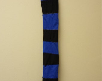 Patchwork Tail Bag Horse Tail Wrap Colorful Black Blue Upcycled Elf Bag