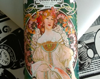 Samsung Galaxy S5 Case S5 Cover Art Nouveau Champenois Alphonse Mucha - Custom sizing available