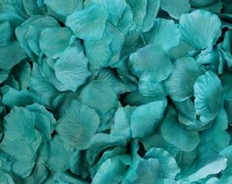 Silk Rose Petals Teal Blue 500 Wedding Decoration Flower Girl Reception Table