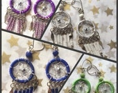 200 pairs dream catcher earring with beads Peru gift share love give world peace