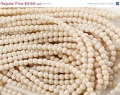 ON SALE Luster Opaque Champagne 3mm Round Czech