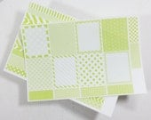 Decoration Stickers - Light Green Set - Stickers for Planners, Calendars or Diaries - MADE TO ORDER