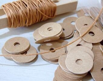 Tan Cardboard Washer Discs Scrapbooking Envelope Making Qty 100