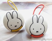 Girl Hair Accessories,Big Hair Tie Button Ponytail Holders-Fairy Tale Nordic Yellow Orange Miffy Bunny (1PCS, Choose Color)