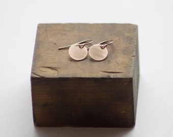 Simple Gold Fill Circle Earrings by Betsy Farmer Designs