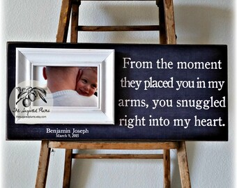 First Fathers Day, Personalized Fathers Day Gift, Fathers Day Frame, From The Moment They Placed, 8x20 The Sugared Plums Frames