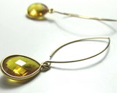 Sunny Citrine on 14k Gold Filled Lotus Style Ear Wire Artisan Earrings
