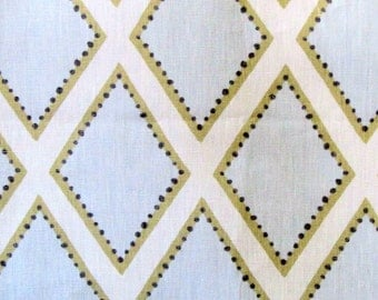 BROOKHAVEN opal Geometric linen by KRAVET faded blues barely tan on ivory