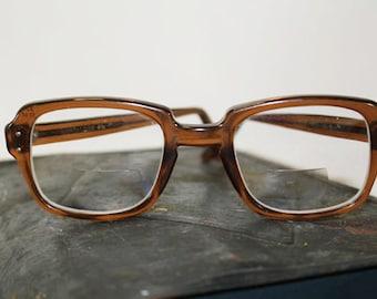 SALE - 80's Style Brown Eye Glasses, Vintage - 8