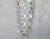 """Vintage FOSTORIA AMERICAN Vase Glass For Bouquet or Roses Elegant  Glass Bud  6-1/4"""" tall Beautiful Quality Glass Made in Usa"""