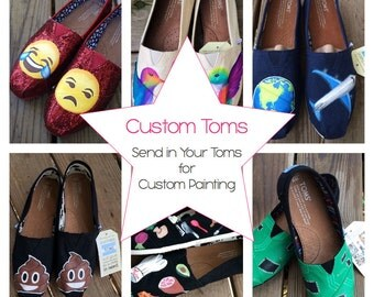 Custom Painted Toms Send Your Shoes to Be Customized Hand Painted