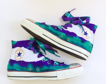 Glam Fissure Rhinestone Converse Shoes