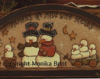 Snowman Family-DIY painting ePattern-Snowman-Winter-Home Decor-Primitive-Country