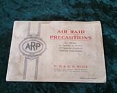 Wills Cigarette Cards Air Raid Precautions 50 Card Set in Original Album. 1938